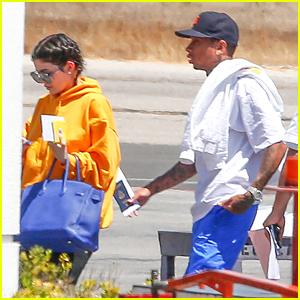 Kylie Jenner & Tyga Jet Back To LA After Birthday Getaway