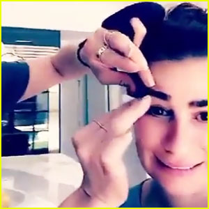 Lea Michele Documents Her Eyebrow & Mustache Waxing on Snapchat - Watch Now!