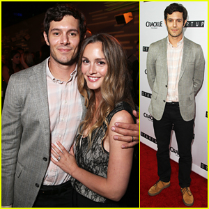 Leighton Meester Supports Hubby Adam Brody At 'StartUp' Premiere