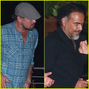 Leonardo DiCaprio Dines with 'Revenant' Director Alejandro Iñárritu