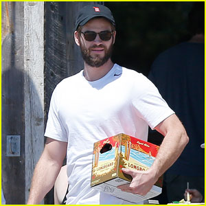 Liam Hemsworth Accidentally Drops Entire Case of Beer