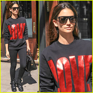 Lily Aldridge Rocks a Robe in Her Paris Hotel Room!