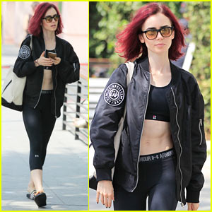 Lily Collins Enjoys a Day Off in West Hollywood