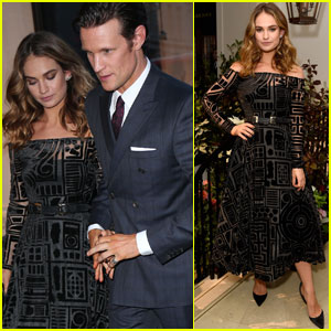 Lily James & Boyfriend Matt Smith Celebrate Her Burberry Black Campaign