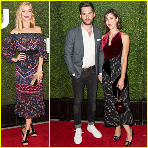 Lizzy Caplan & Fiance Tom Riley Couple Up At CBS, CW, Showtime Summer TCA Party!