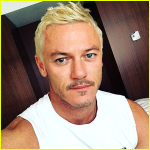 Luke Evans Shows Off His New Bleached Blond Hair