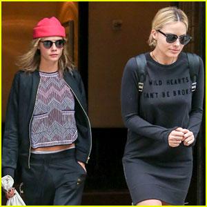 Margot Robbie & Cara Delevingne Leave New York Together After 'Suicide Squad' Premiere
