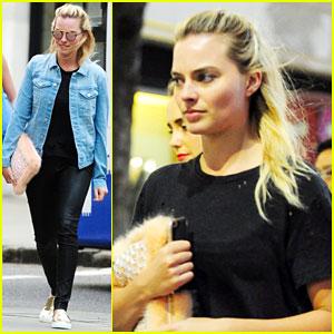 Margot Robbie Hangs with Amber Heard After Her Divorce Settlement