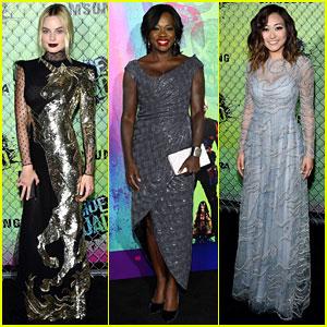 Margot Robbie, Viola Davis, & Karen Fukuhara Stun at 'Suicide Squad' NYC Premiere!