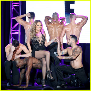 Mariah Carey Surrounds Herself With Hot Shirtless Men for 'Mariah's World' Panel at TCA 2016