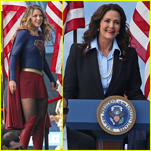 Lynda Carter Films First Scenes for 'Supergirl' With Melissa Benoist