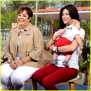 Michael Phelps' Mom, Fiancee, & Baby Visit 'Today Show'