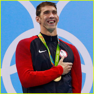 Michael Phelps Spends His First Day of Retirement With Son