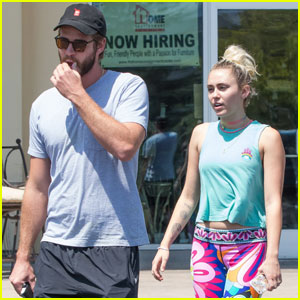 Miley Cyrus & Liam Hemsworth Have a Laid Back Lunch Together