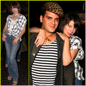 Milla Jovovich Has a Night Out on the Town With Pal Markus Molinari