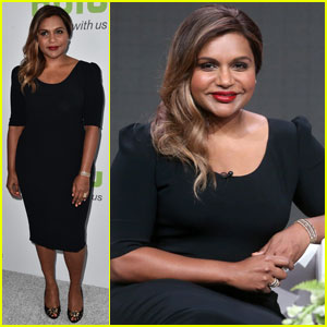 Mindy Kaling Makes a Stylish Arrival at Hulu's TCA 2016 Panel