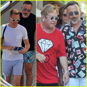 Neil Patrick Harris & David Burtka Join Elton John & David Furnish in Italy