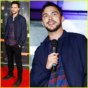 Nicholas Hoult Kicks Off 'Collide' Press In Germany!