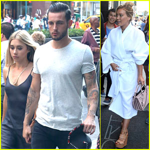Nico Tortorella & Hilary Duff Have Pool Party on 'Younger' Set