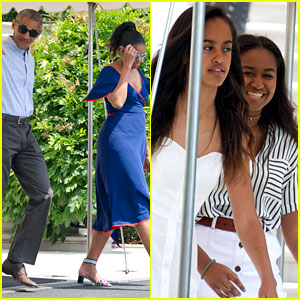 Obama Family Heads to Martha's Vineyard for Summer Vacation