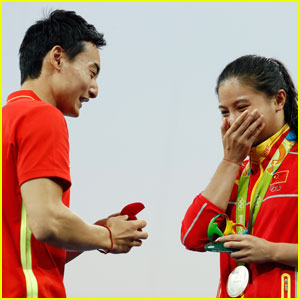 Watch Two Olympic Divers Get Engaged at the Games!