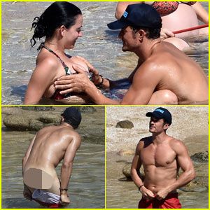 Orlando Bloom Bares Butt, Flaunts PDA with Katy Perry in New Beach Photos!