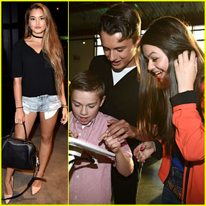 'Adventures in Babysitting' Cast Plays Disney Mix App at Just Jared Jr. Party