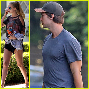 Abby Champion Meets Up with Patrick Schwarzenegger After His Guys Trip to Maui