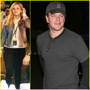 Reese Witherspoon & Matt Damon Both Attend Coldplay Concert