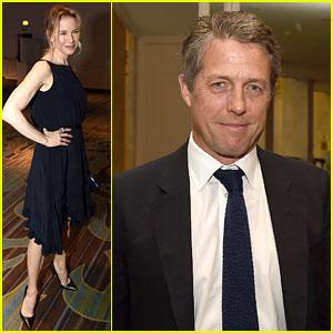 Renee Zellweger & Former 'Bridget Jones' Co-Star Hugh Grant Attend HFPA Event
