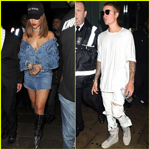 Rihanna & Justin Bieber Party Together at a Nightclub in London!