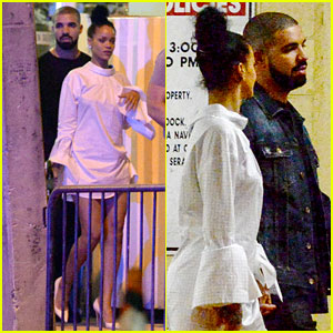 Rihanna & Drake Hold Hands in Miami!