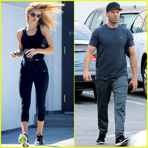 Rosie Huntington-Whiteley & Jason Statham Take Care of Their Errands Before the Weekend