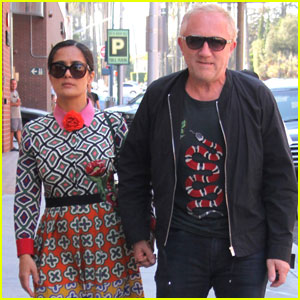 Salma Hayek Enjoys the End of Summer With Her Family