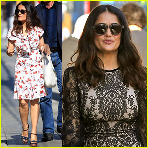 Salma Hayek Gets Ready for Her 'Jimmy Kimmel Live' Appearance!