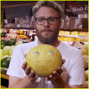 Seth Rogen Scares Shoppers With Talking Food Prank