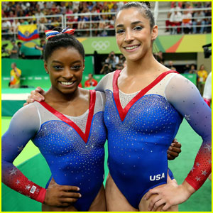 Simone Biles & Aly Raisman Take Gold & Silver in Gymnastics Floor Exercise