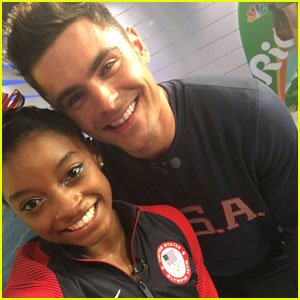 Simone Biles Meets Zac Efron in Rio, Gets Kiss on Cheek!