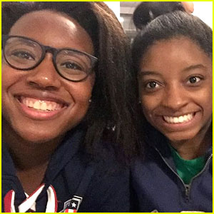 Simone Biles & Simone Manuel Meet Up for Epic Olympics Photo