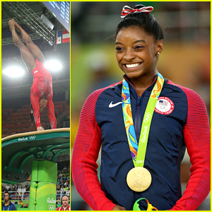 Simone Biles Wins Third Gold Medal on Vault at Rio Olympics
