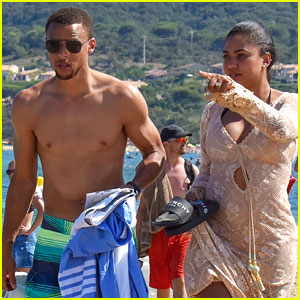 Stephen Curry Goes Shirtless for Beach Vacation with Ayesha!