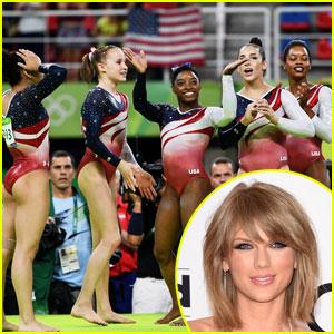 Taylor Swift Congratulates the US Women's Gymnastics Team