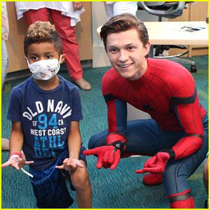 Tom Holland Visits Children's Hospital Dressed as Spider-Man!
