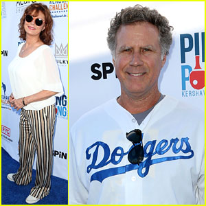 Will Ferrell & Susan Sarandon Play Ping Pong for a Good Cause