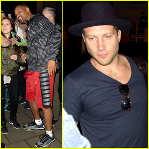 Will Smith & Jai Courtney Meet Some Lucky British Fans