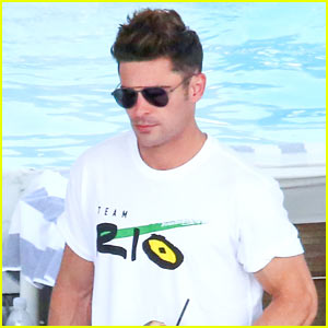 Zac Efron Continues to Support Team USA in Rio!