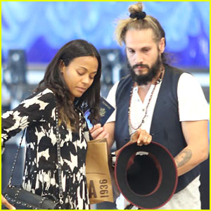 Zoe Saldana Posts Dubsmash with Marco Perego & Their Twins
