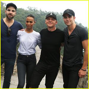 Zoe Saldana & 'Star Trek Beyond' Cast Visit Great Wall of China!
