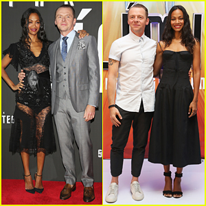 Zoe Saldana Teams Up with Simon Pegg To Premiere 'Star Trek Beyond' In Mexico City!