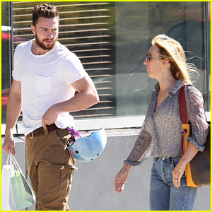 Aaron Taylor-Johnson & Wife Sam Spend Sunday with Their Kids!
